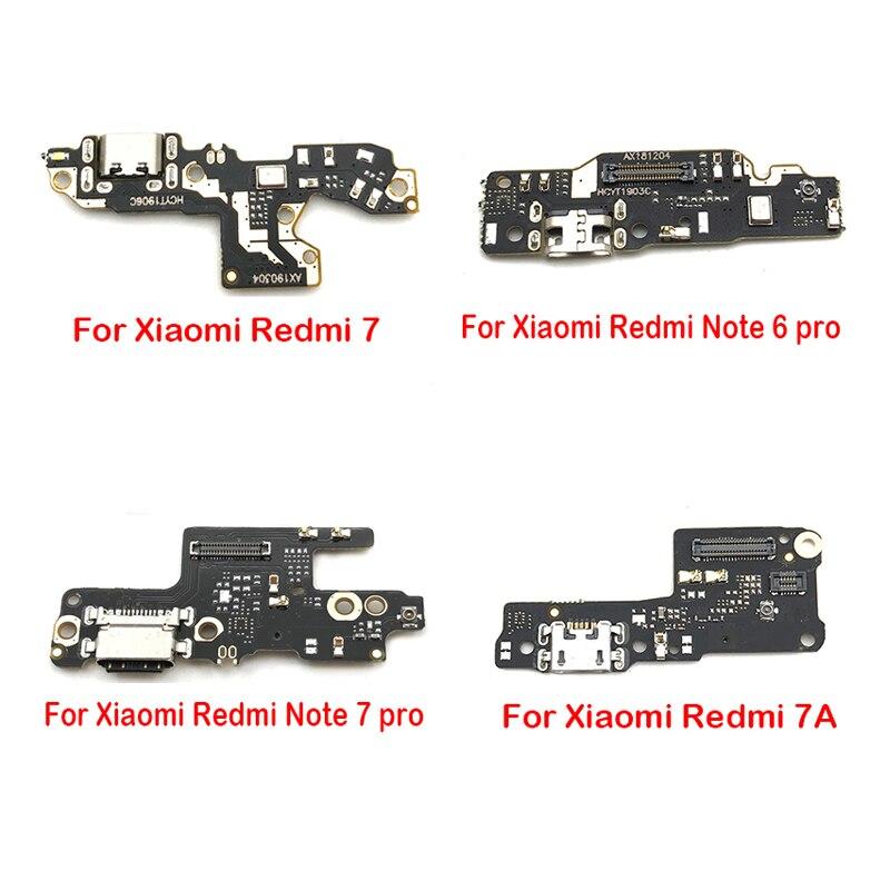 10 teile/los, mic Mikrofon + USB Lade Port Bord Dock Connector Ladegerät FLex Kabel Für Xiaomi Redmi 7 7A Hinweis 6 7 pro