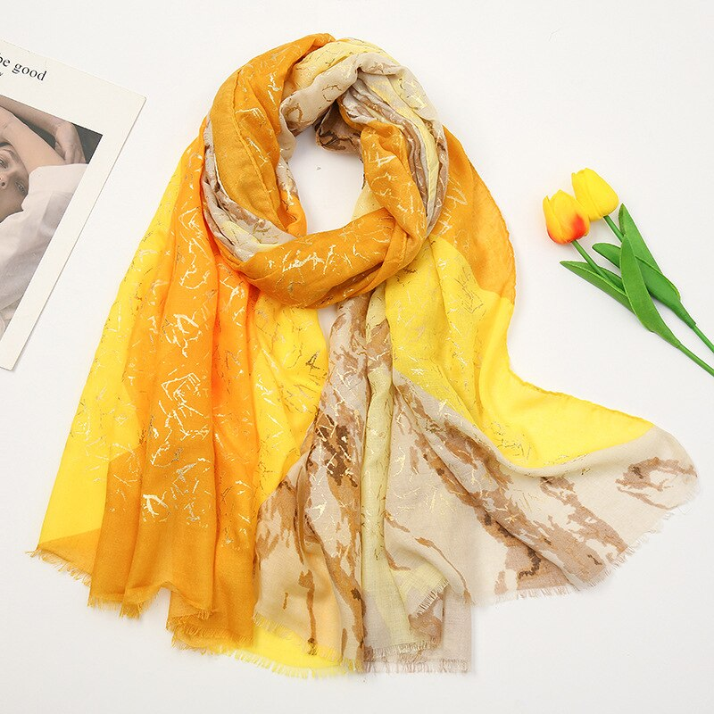 2021 رائجة البيع الهندسة طباعة الفضة شراشيب معدنية الأوشحة شالات المرأة طويلة لينة جميلة القطن وشاح التفاف الحجاب شحن مجاني