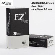 RC0807RLT EZ Revolution Cartridge Tattoo Needle Round Liner #08 Bugpin  (0.25 mm) Long Taper 5.5 mm Tattoo Needles 20 pcs/Box