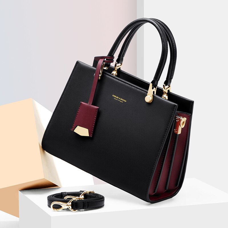 Women Bag Shoulder Handbag Women Vintage Messenger Bags Top-Handle Composite Bag Purse Wallet Leather