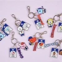 jcbtsh21baby series pendant cartoon animal shape english alphabet pendant keychain cute backpack decoration