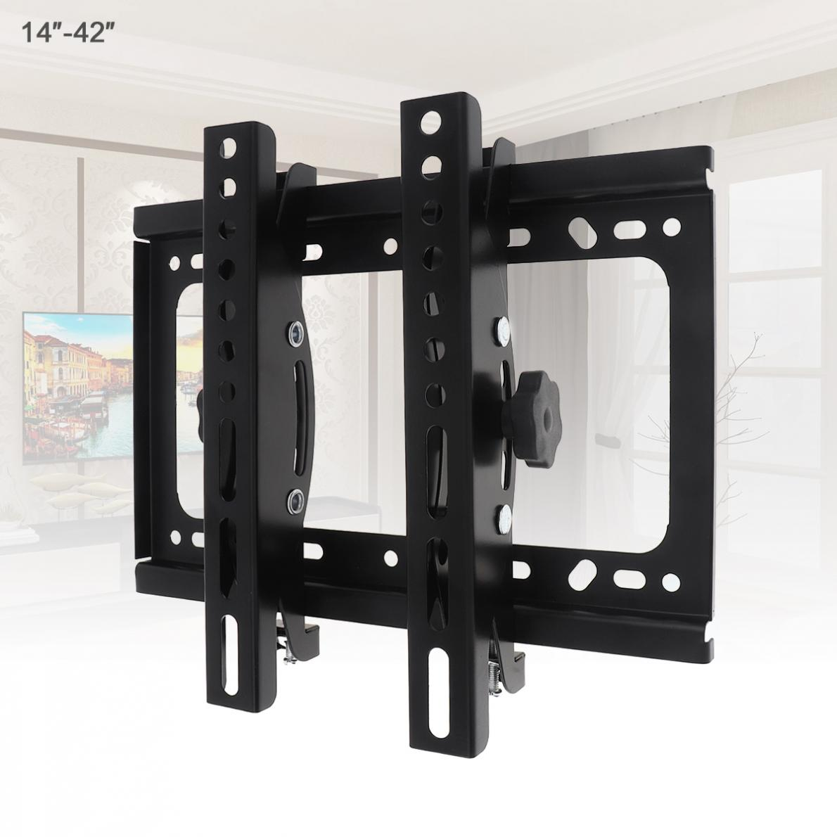 Universal 45KG ajustable TV soporte de montaje en pared para TV de Panel plano de apoyo 15 grados de inclinación con el nivel para 14 - 42 pulgadas LCD LED