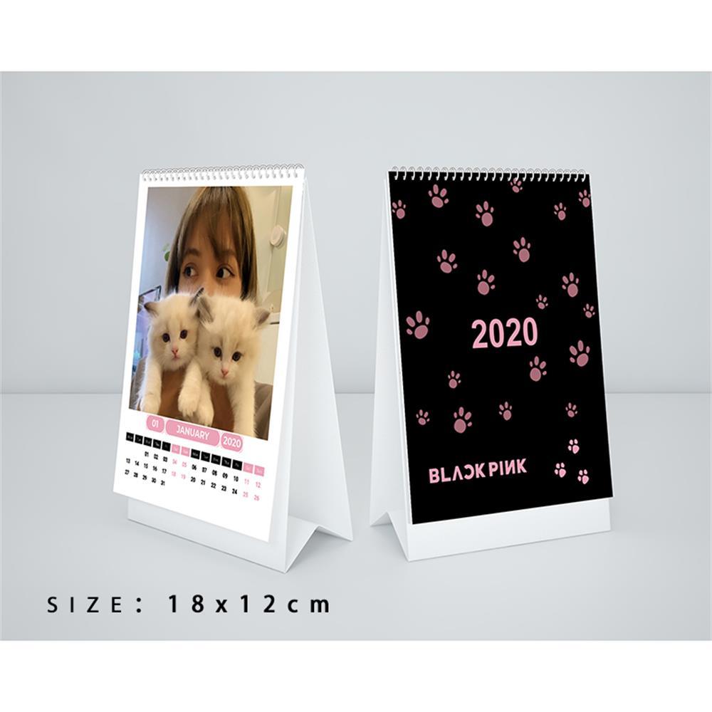 Calendario de escritorio Blackpink 2020, fotos de rosas Jisoo, Jennie Lisa, planificador diario, planificador de mesa, Agenda anual Kpop