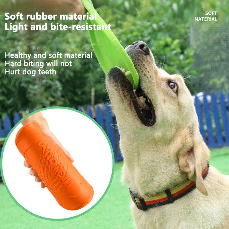 Juguete de platillo volador de silicona para perros, disco volador resistente para...