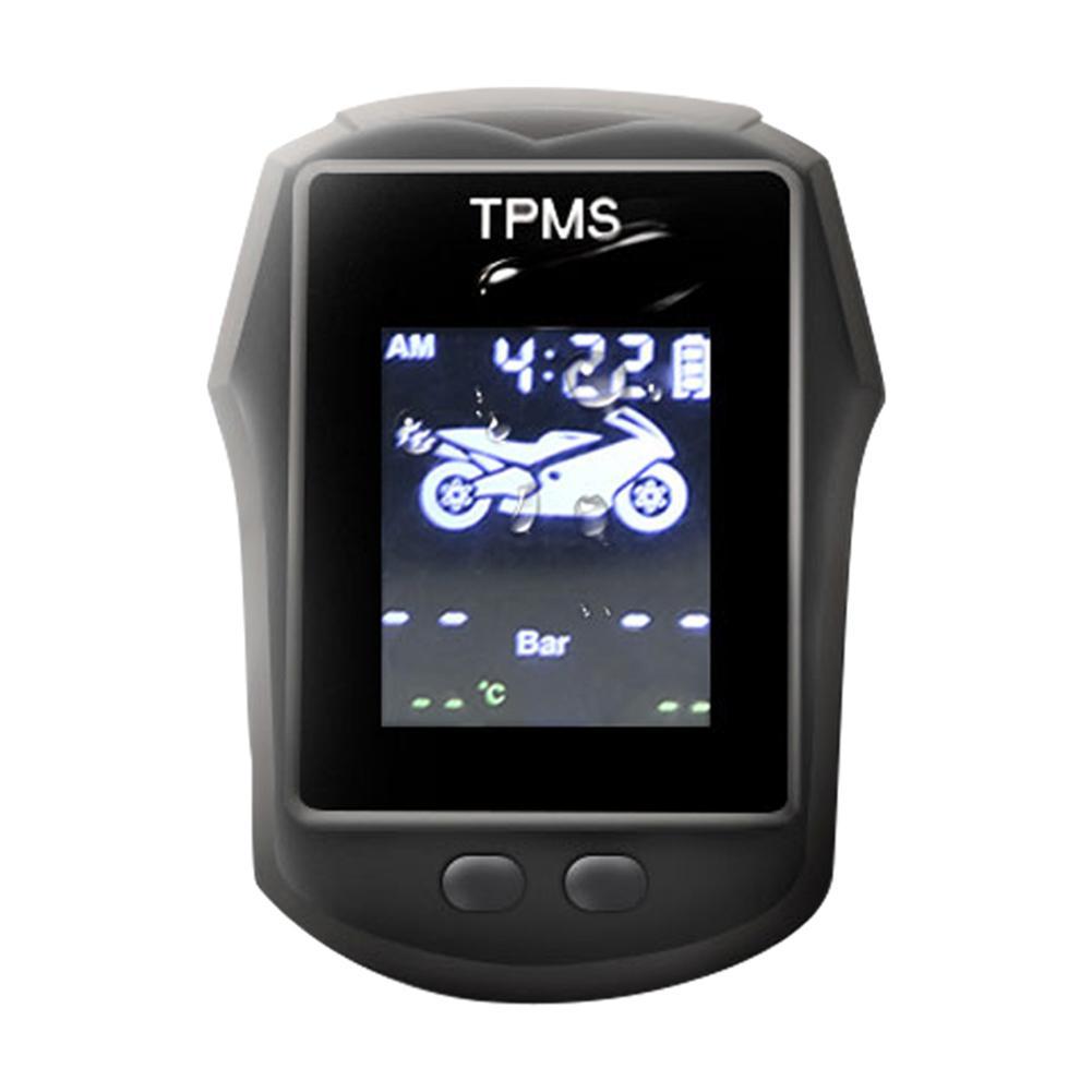 433,92 MHz TPMS Motorrad 116psi Echt-zeit USB Digital Tire Pressure Monitoring System Reifen LCD Display Mit 2 Externe sensoren