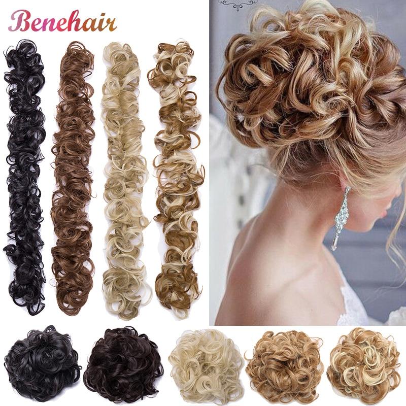 AliExpress - BENEHAIR Women Chignon Messy Hair Bun Scrunchy Hair Bun Rubber Band Hairband Synthetic Hairpiece Updo Chignon Donut Roller