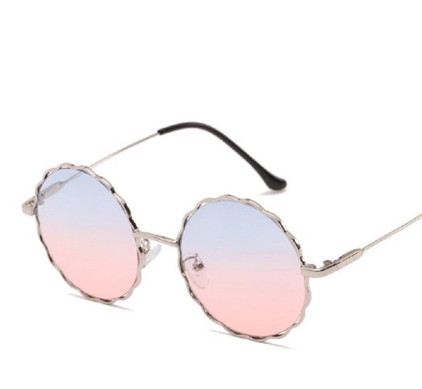 1Pcs Popular Round Plum blossom Sunglasses Design Vintage Stylish Women Eyewear Unisex Metal Frame Sunglasses UV 400