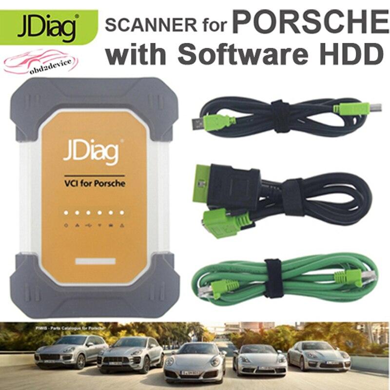 Nueva herramienta J2534 VCI para PORSCHE Car diagnóstico ECU programación y Software en disco duro para todo el coche pruebas para PORSCHE