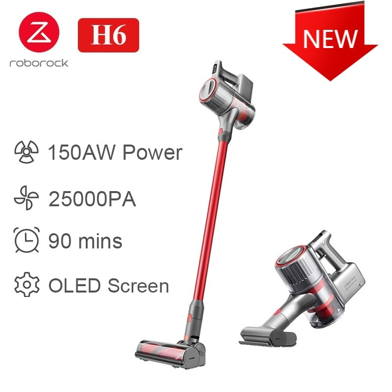 Roborock H6 Handheld Vacuum Cleaner Home Wireless Sweeping 25000Pa Strong cyclone Suction Multi functional Brush Dust Catcher