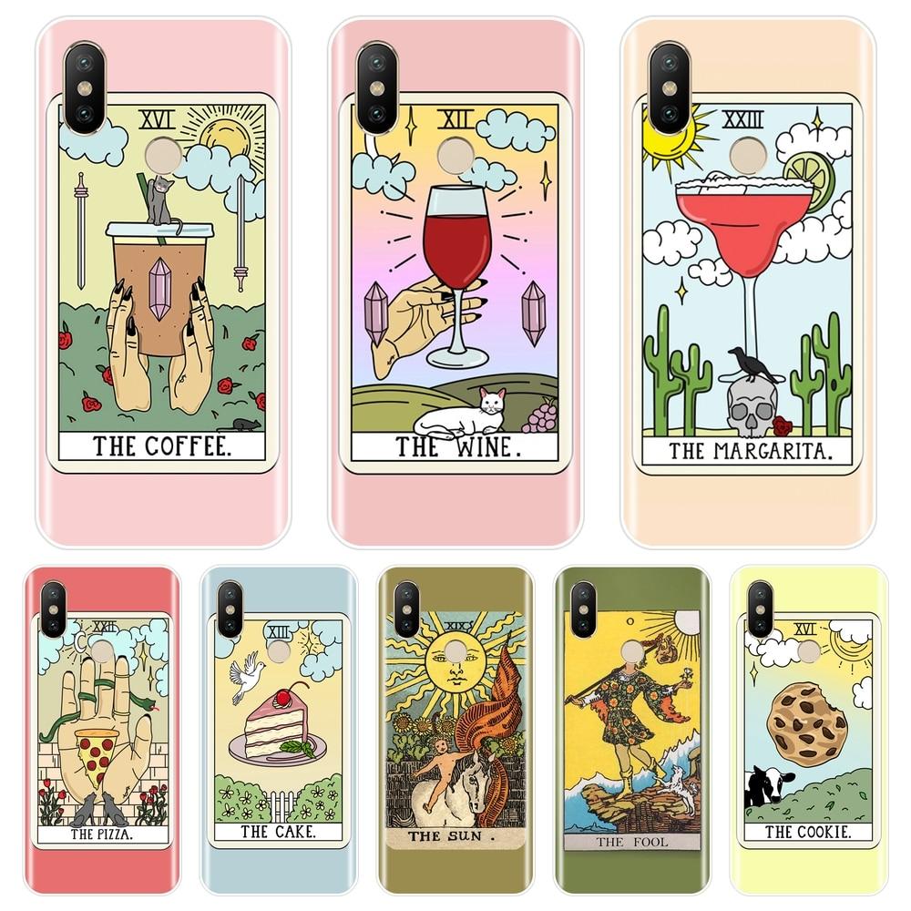 Back Cover For Xiaomi Mi 5 5C 5S 5X 6 6X Plus Egypt Tarot Food Sun Pink Soft Phone Case Silicone For Xiaomi Mi A1 A2 8 Lite SE