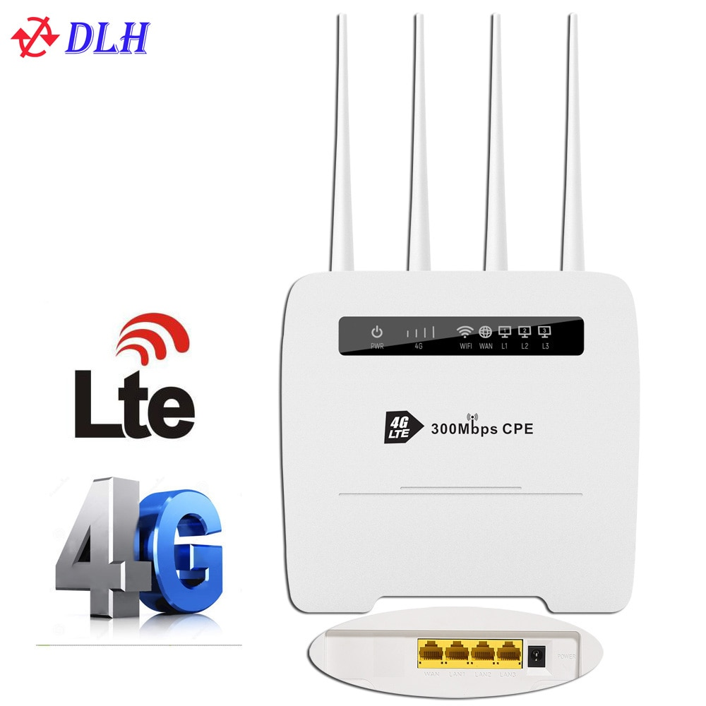 Unlocked 4G Router 300Mbps Wifi Router 4G LTE CPE wifi Router with LAN Port Support SIM card slot Wireless WiFi Router
