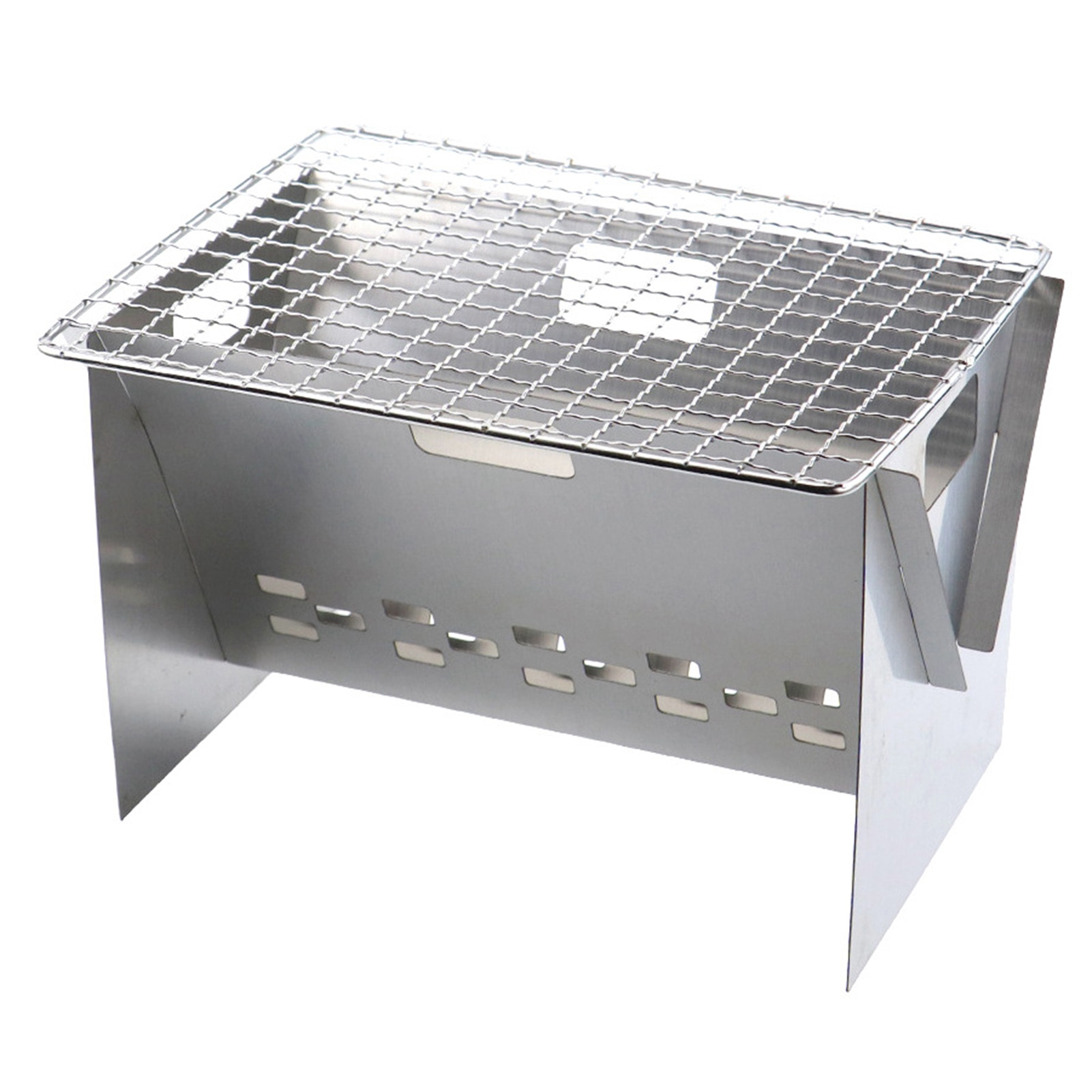 Portable BBQ Grill Folding Stainless Steel Grill Fire Pit Cooking Tool For Outdoor Barbecue Oven Picnic Camping Stove