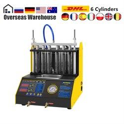 Autool ct200 injector de combustível do carro máquina limpeza auto ultra-sônico mais limpo tester 6 cilindros a gasolina melhor do que o lançamento cnc602a