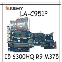 akemy aipy6 la c951p motherboard for lenovo y700 14isk notebook motherboard cpu i5 6300hq gpu r9 m375 ddr4 100 test work