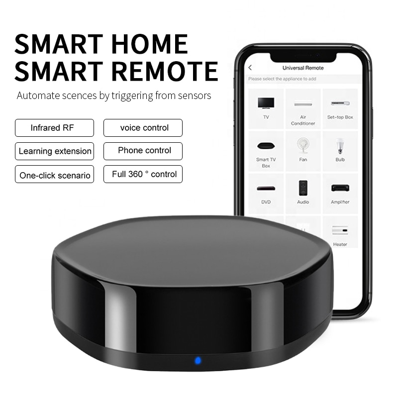 Tuya Smart Home Infrared Radio Frequency Smart Home Appliance Universal Remote Control Work With Alexa Google Assistant