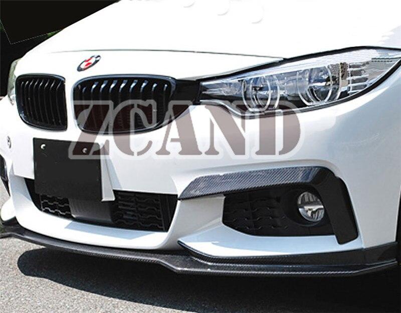 Perfil de alerón delantero de fibra de vidrio pintado para BMW F32 F33 F36 m-sport m-tech parachoques 2014UP