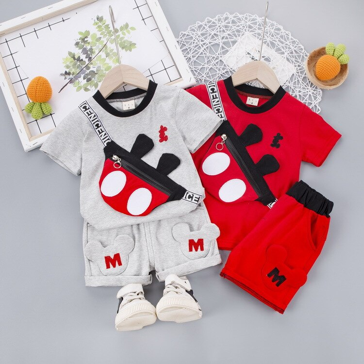 Conjuntos de ropa de verano para niñas, camiseta de manga corta de dibujos animados, pantalones 2 uds, conjuntos de ropa para niños pequeños
