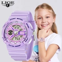 lige watches boys and girls childrens watch electronic quartz watch 50m diving swimming student sports watch colorful relojbox