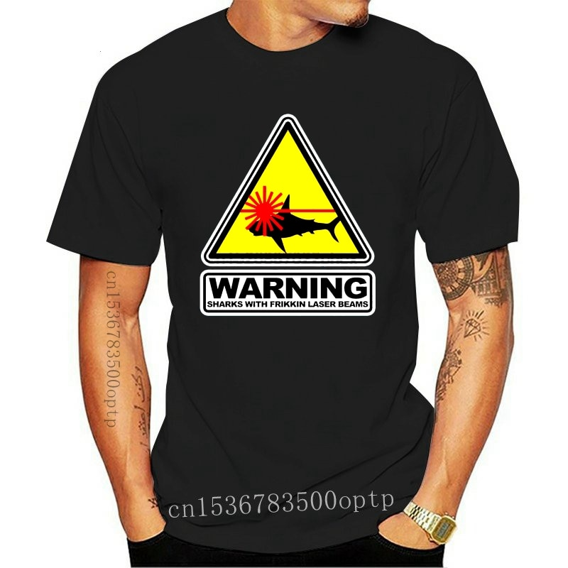 2021 New Austin Powers Dr Evil Sharks with Frikkin Laser Beams Movie T-shirt men t shirt