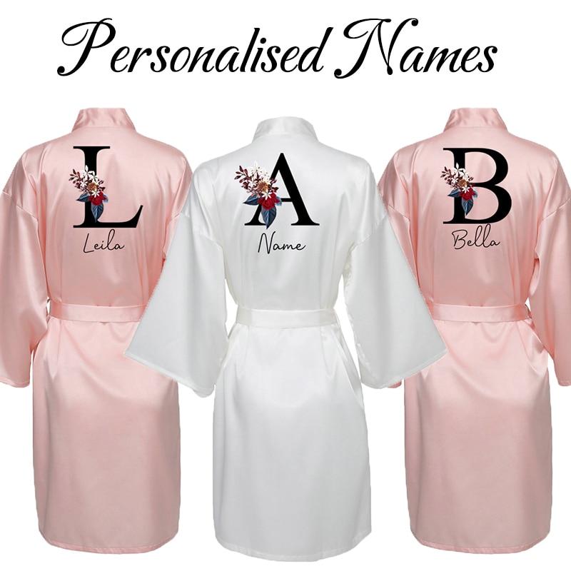 brand new silk satin women robe Bride Robe Women Satin Silk Robe Personalised Names 25 Colors Robes for Women Bride Robe Bridesmaid Robe Wedding Robe