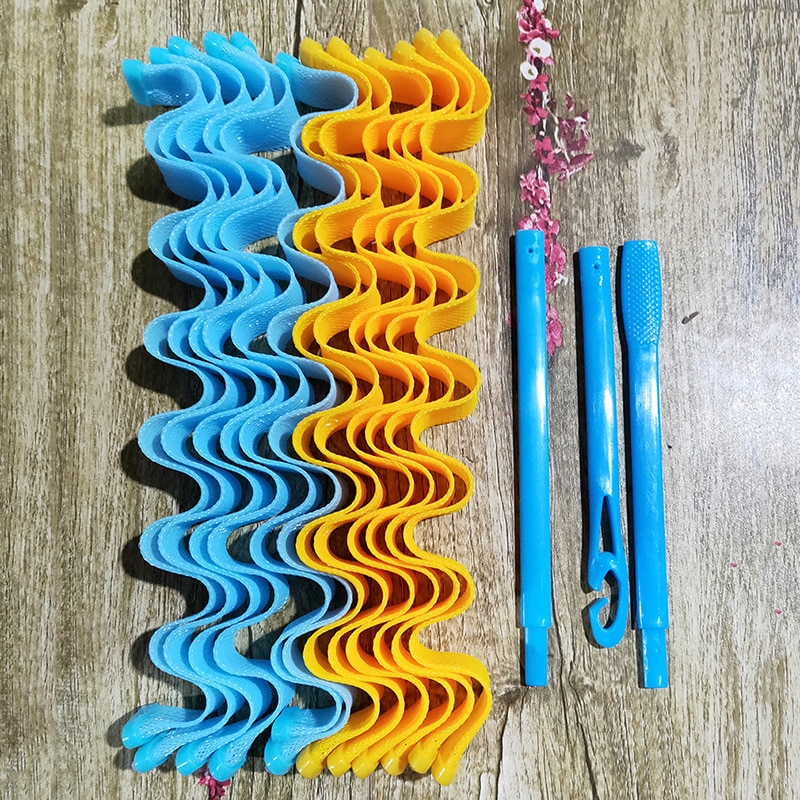 AliExpress - 12PCS/Pack DIY Magic Hair Curler Portable Hairstyle Roller Sticks Durable Beauty Makeup Curling Hair Styling Tools