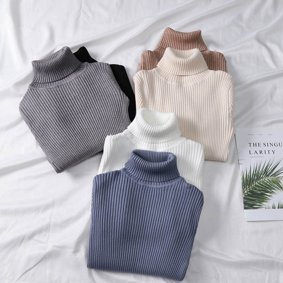 Women Sweaters 2021 Autumn Winter Tops Thick Slim Women Pullover Knitted Sweater Jumper Soft Warm Pull Femme enlarge