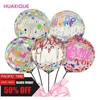 happy birthday bobo balloons 20inch transparent globos birthday balloons for baby shower kids adult birthday party decor