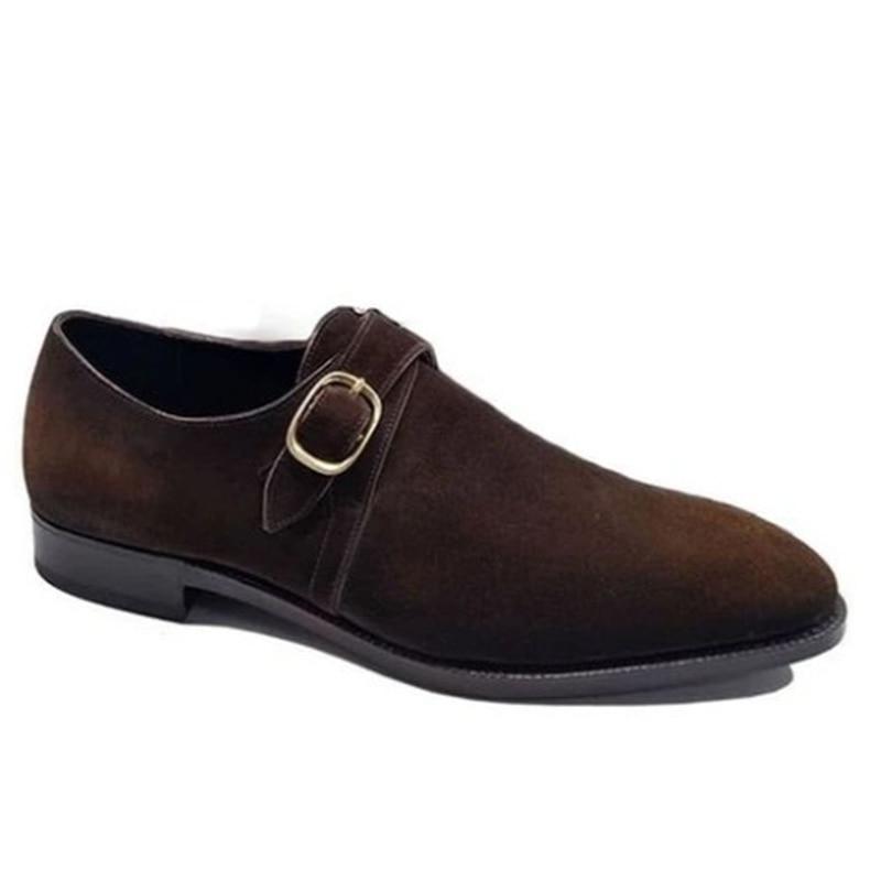 Zapatos De negocios con correa De monje para Hombre, botas De ante...
