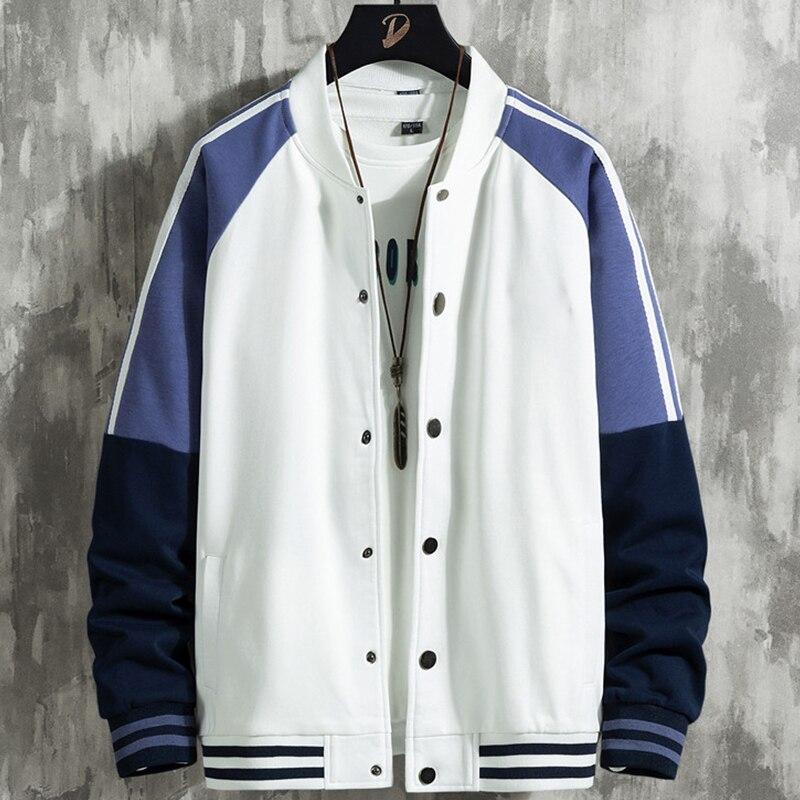 Новинка 2021, Весенняя модная уличная одежда в стиле пэчворк для колледжа в стиле Харадзюку, повседневная куртка, мужские бейсбольные куртки