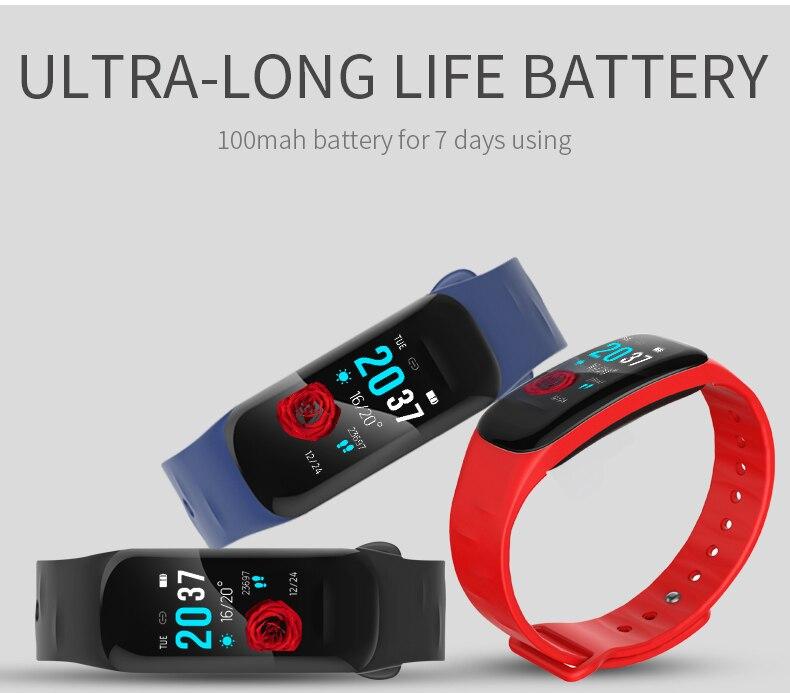 Banda inteligente H01 ECG PPG presión arterial Monitor de ritmo cardíaco pulsera Fitness tracker reloj para Xiaomi iPhone hombres mujeres