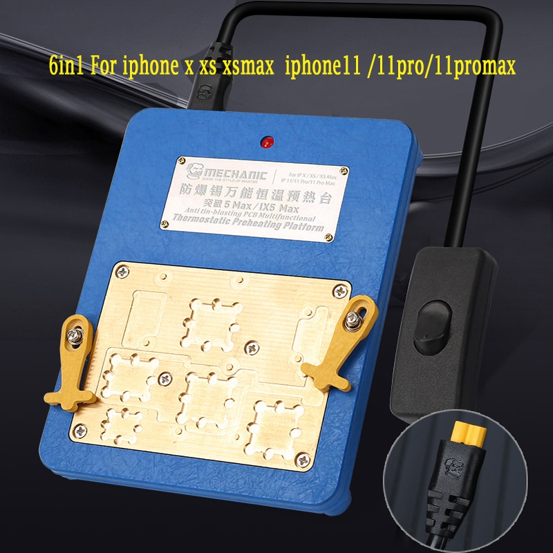 Placa base 6in1 mecánico IX5 MAX para iPhone X XS MAX 11 11PRO MAX retrabajo capas superior e inferior Split precalentador plataforma