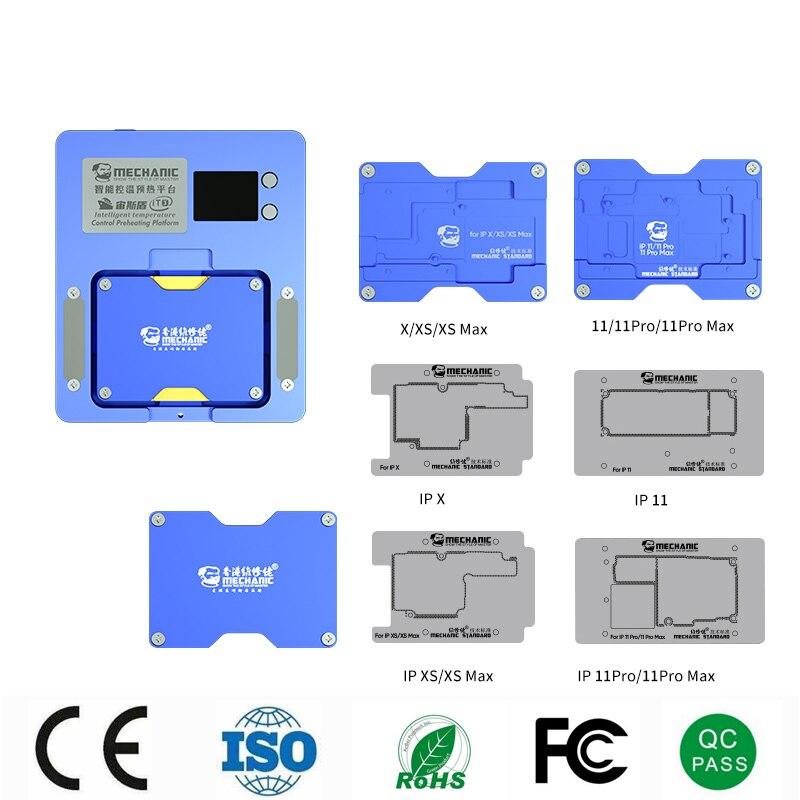 Механик интеллигентая (ый) подогрева платформы для iPhone X-12 PRO MAX материнской платы многослойной/IC чип NEC и BGA трафарет/точечная матрица Инструменты для ремонта