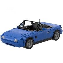 MOC Fashion Brand MX-5 Car Roadster Model Kit MOC-27076 Building Blocks Bricks KIds Toys RC CAR