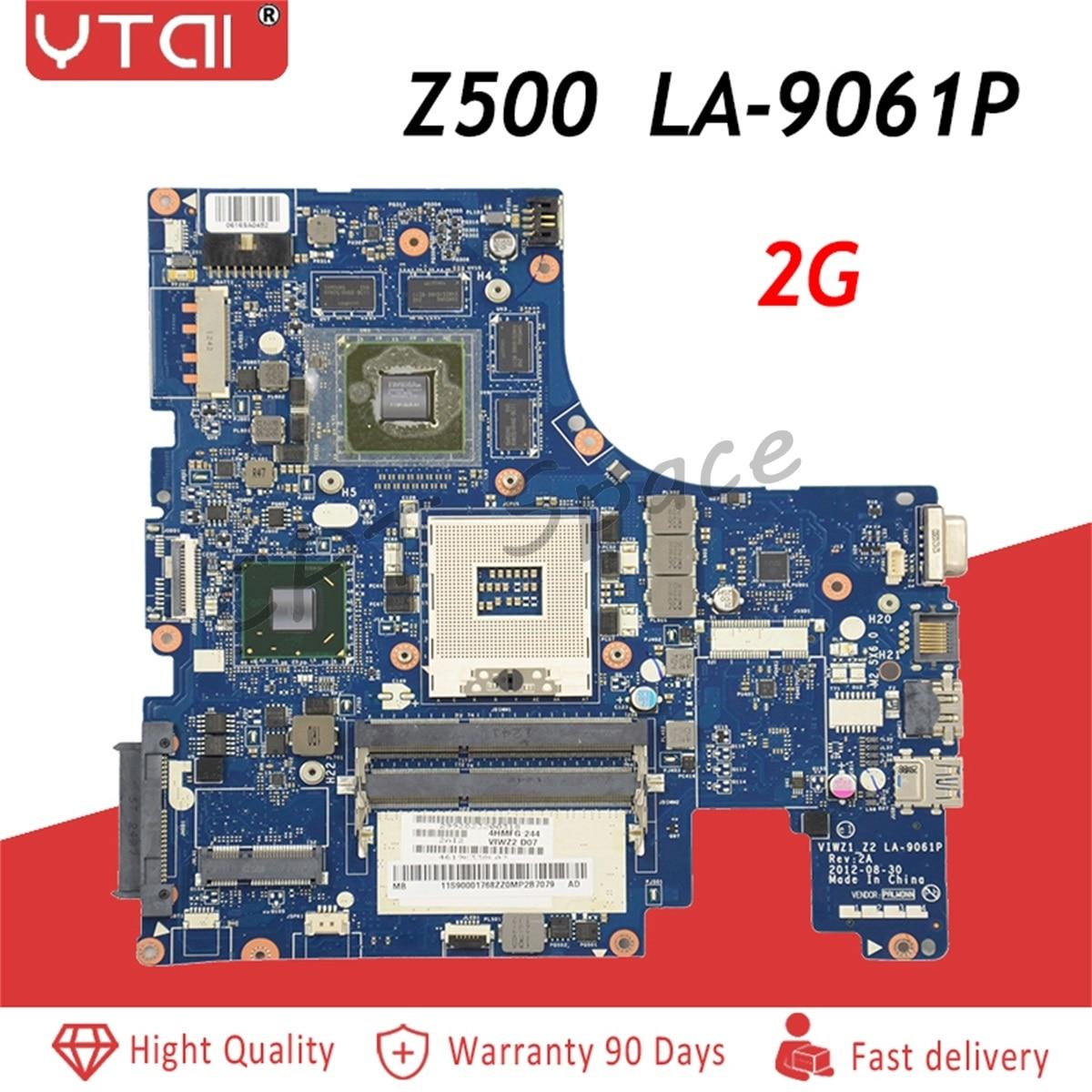 LA-9063P Z500 placa base para Lenovo Z500 placa base de computadora portátil VIWZI-Z2 LA-9063P 2G HM77 100% prueba intacto