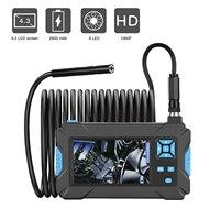 P30 Handhold Screen Endoscope Camera 5.5 8.0mm Waterproof Hard Cable 2600mAh 4.3'' LCD Monitor Borescopes Industrial Endoscope