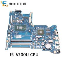 NOKOTION 854936-601 854936-001 Pour HP 15-AY 15-AY015DS Portable motherbard BDL50 LA-D704P I5-6200U CPU R5 M330 GPU