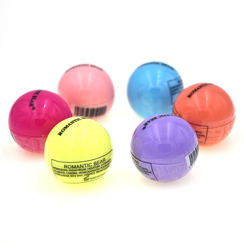 6 unids/pack Bola de bálsamo labial hidratante lindo dulce tono CC bálsamo labial maquillaje de labios tinte fresco y húmedo cosméticos nueva llegada