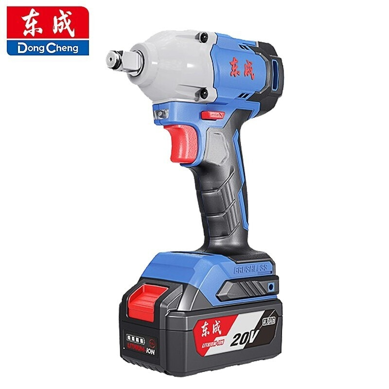 Dongcheng Brushless Electric Wrench Woodworking Lithium Battery Impact Wrench 20V Shelf Worker Rechargeable Electric Wrench