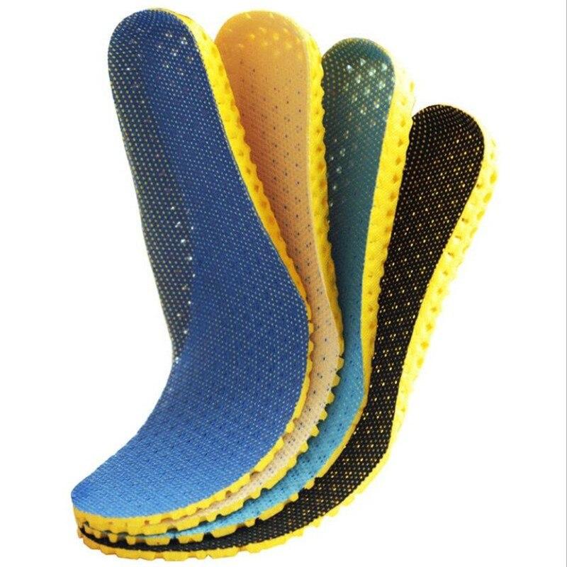 Стельки с эффектом памяти для обуви, сетчатые дышащие, дезодорирующие, для бега, ортопедические для мужчин и женщин