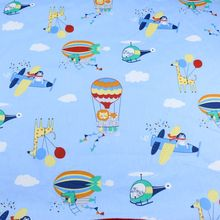 160cm*50cm airplane baby kids Cotton Fabric Printed Cloth Sewing Quilting bedding apparel dress diy