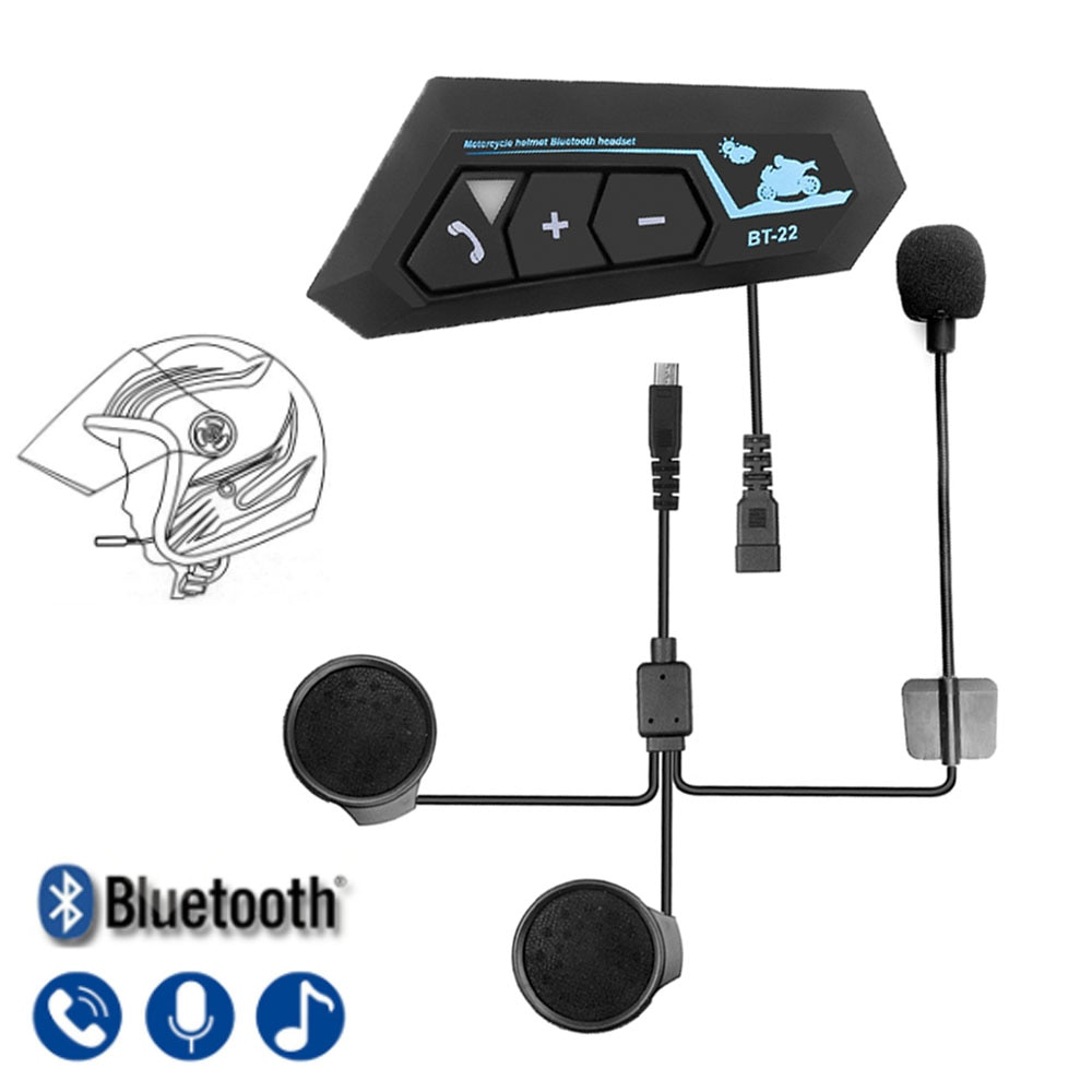 Bluetooth 5.0 Motor Helmet Headset Wireless Handsfree Stereo Earphone Motorcycle Helmet Headphones Mp3 Speaker Helmet Intercom