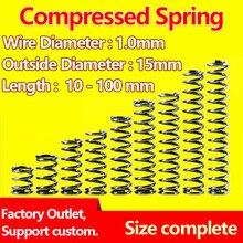 Ressort de sortie à ressort   Ressort à pression, diamètre du fil de printemps comprimé 1.0mm, diamètre extérieur 15mm, ressort réglable