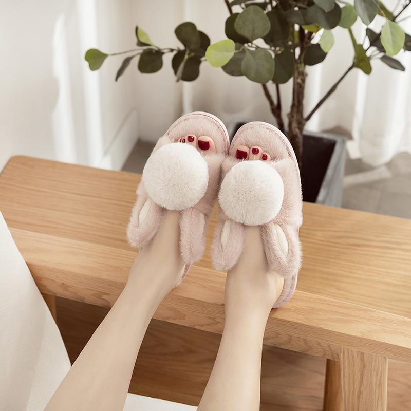 Women Comfortable Fuzzy Rubber Scuff Women Fashion Plush Open Toe Relaxing Indoor Slippers Floor Shoes 36-39
