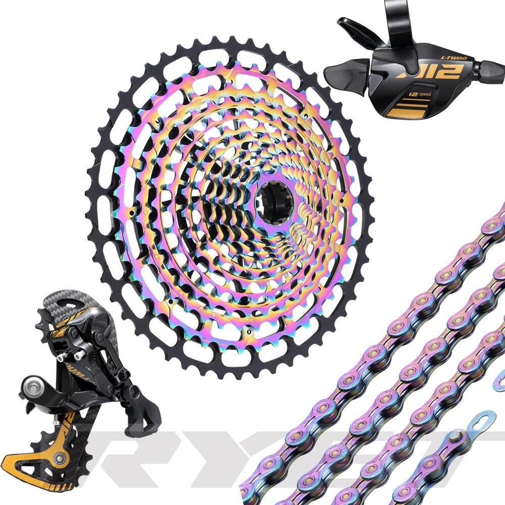 RYET1x12 grupo de bicicleta 12 velocidades cambio trasero 10-50T Cassette ULT grupo Set montaña palanca de cambios bicicleta MTB 12 velocidades 12 s Cassette