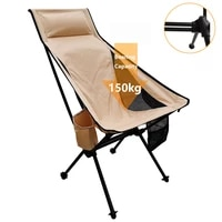 2021new outdoor camping chair portable ultralight folding camping seat fishing picnic aluminum alloy bbq beach chair