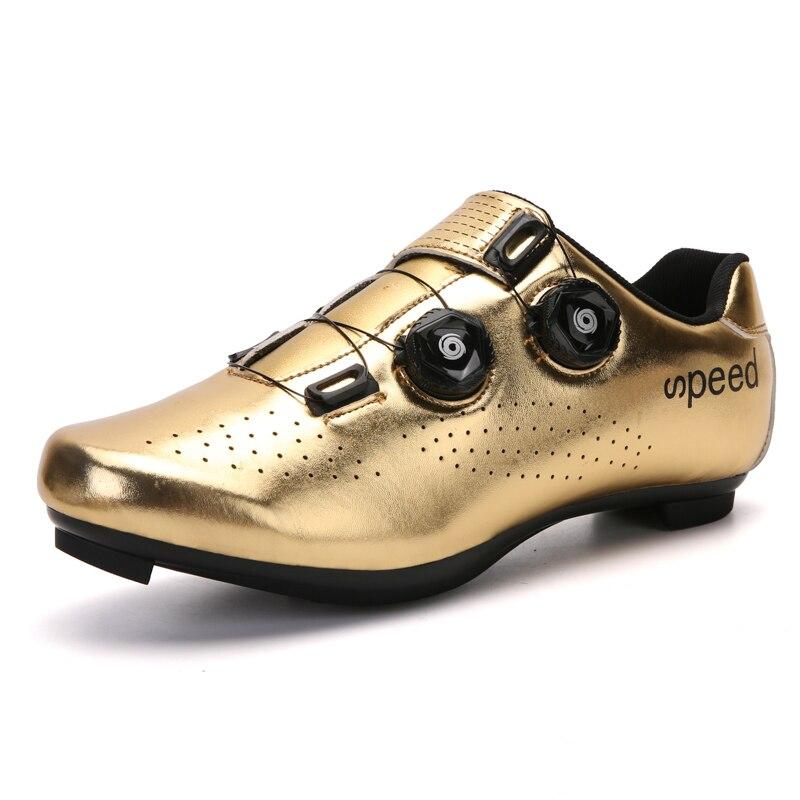 Zapatillas de Ciclismo para hombre, calzado ultraligero profesional para exteriores, con autosujeción...