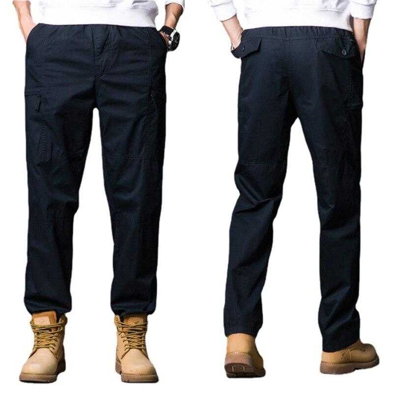 Мужские брюки весна-осень 2021, новые повседневные спортивные свободные мужские брюки большого размера, модная мужская одежда, брюки-карго вы...