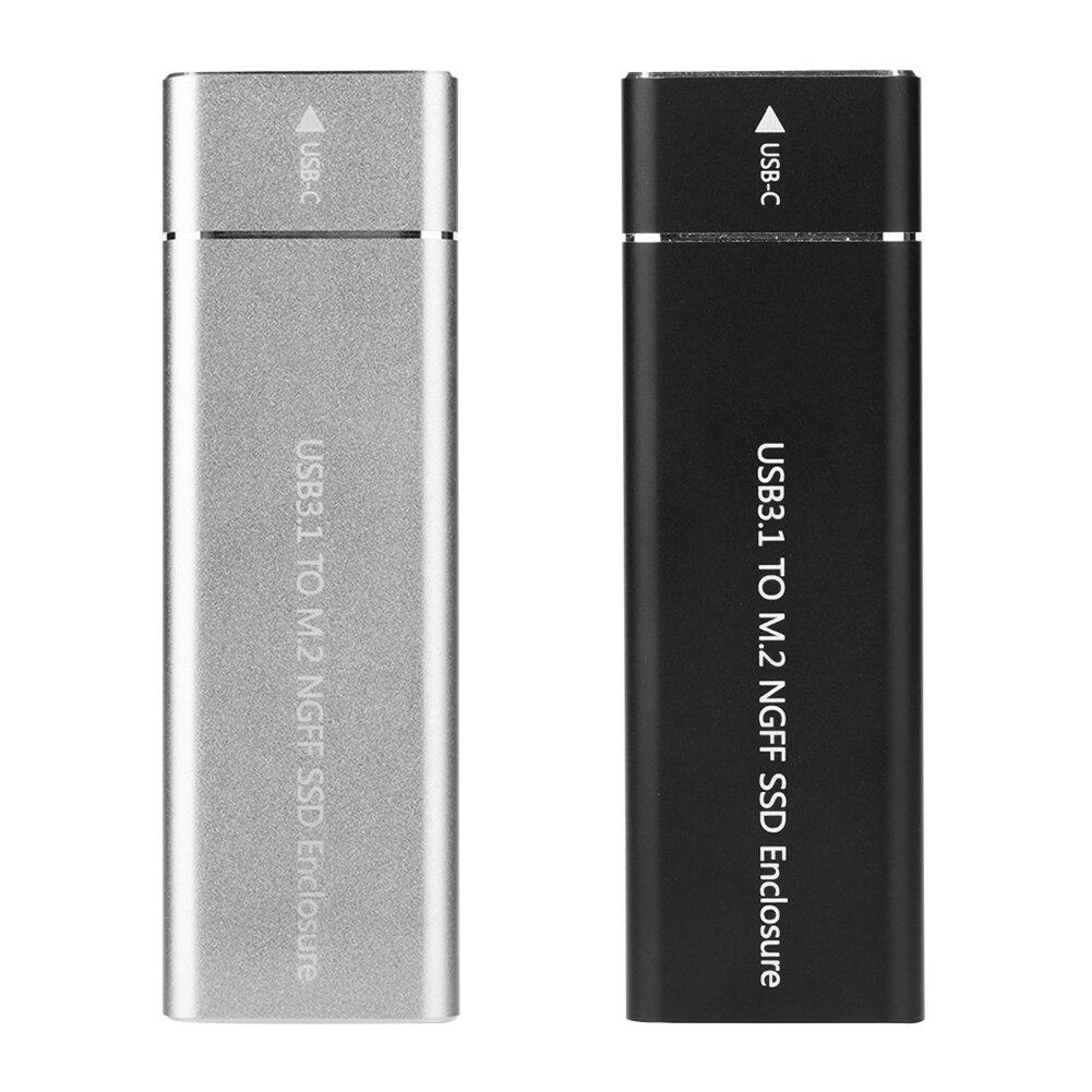 VKTECH Aluminum M2 SSD Case 6Gbps USB 3.1 Gen 1 Type C to M.2 NGFF External SSD Enclosure For m.2 NGFF B Key SSD Hard Disk Box