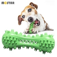 mc star pet mace sounding chew toys new dog vocal grind molar stick bite resistant dog teeth cleaning tpr rubber toothbrush