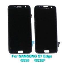 Super AMOLED 5.5 ''LCD Vervanging met Frame voor SAMSUNG Galaxy s7 edge G935 G935F LCD Touch Screen Digitizer + zwart dode pixel